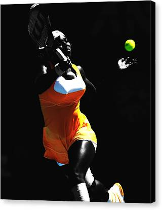 Serena Williams 6b Canvas Print by Brian Reaves