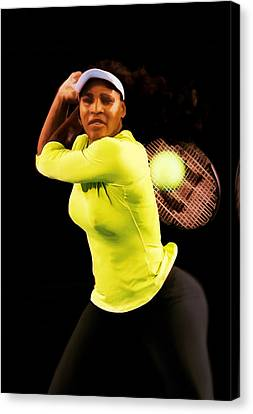Serena Williams Bamm Canvas Print by Brian Reaves
