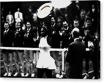 Grand Slam Canvas Print - Serena Williams Eye On The Prize by Brian Reaves