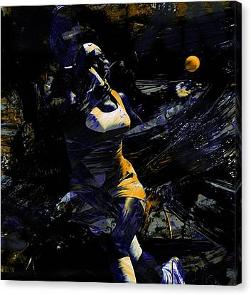 Serena Williams Keep Grinding Canvas Print by Brian Reaves