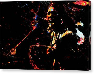 Grand Slam Canvas Print - Serena Williams Color Splash 1a by Brian Reaves