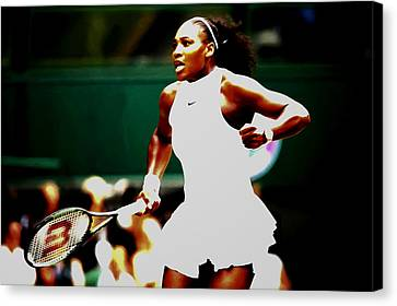 Serena Williams Making History Canvas Print by Brian Reaves