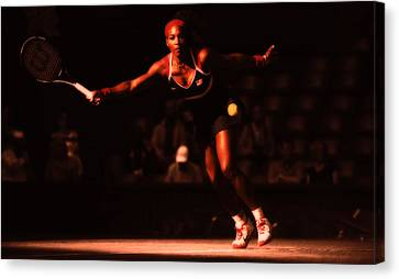 Serena Williams Passion Canvas Print by Brian Reaves