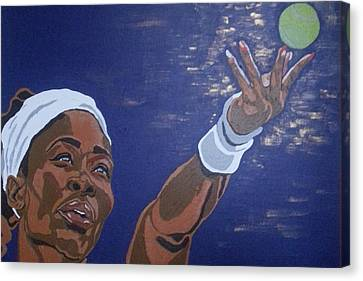Canvas Print featuring the painting Serena Williams by Rachel Natalie Rawlins