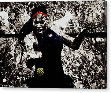 Serena Williams S4e Canvas Print by Brian Reaves