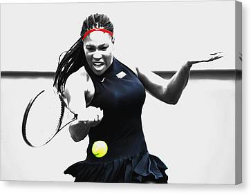Serena Williams Stay Focused Canvas Print by Brian Reaves