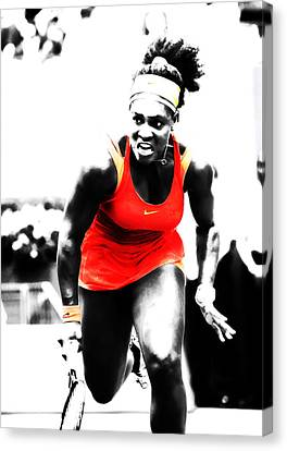 Grand Slam Canvas Print - Serena Williams Go Get It by Brian Reaves
