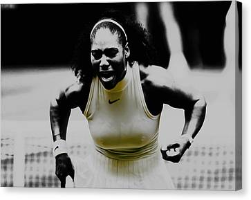 Serena Williams Still I Rise 1a Canvas Print by Brian Reaves