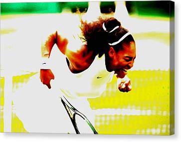 Serena Williams Still I Rise Canvas Print by Brian Reaves