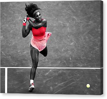 Serena Williams Strong Return Canvas Print by Brian Reaves