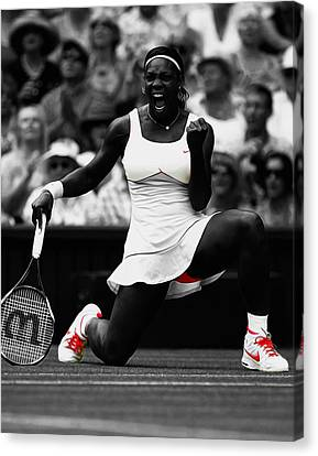 Serena Williams Wimbledon 2010 Canvas Print by Brian Reaves