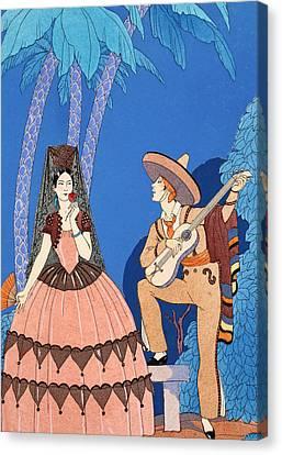 Senorita Canvas Print - Serenade by Georges Barbier