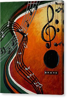 Canvas Print featuring the painting Serenade by Teresa Wing