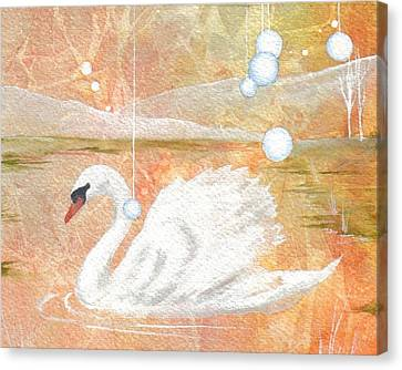 Canvas Print featuring the painting Serena's Sanctuary by Jackie Mueller-Jones