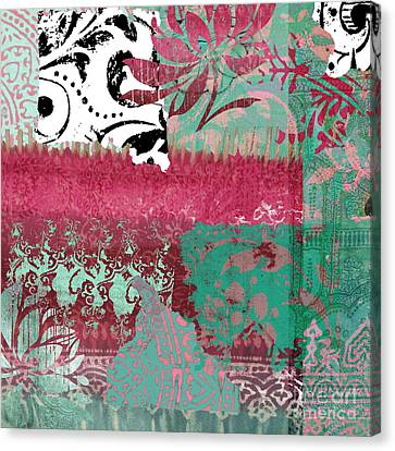 Serendipity Damask Batik I Canvas Print by Mindy Sommers