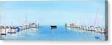 Serene Atlantic Highlands Marina Canvas Print