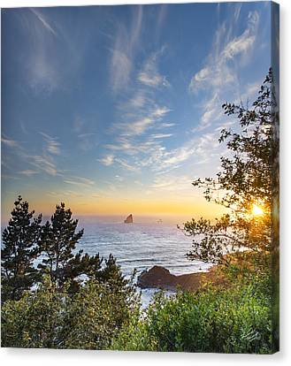 Sunflare Canvas Print - Serene Coast by Leland D Howard