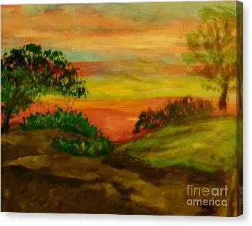 Serene Hillside I Canvas Print by Marie Bulger