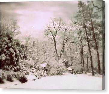 Canvas Print featuring the photograph Serene In Snow by Jessica Jenney