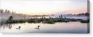 Serene Morning On The Lake Canvas Print by Brent L Ander