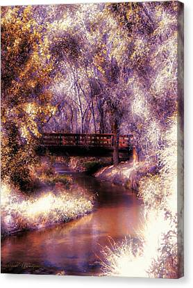 Serene River Bridge Canvas Print