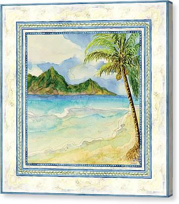 Serene Shores - Tropical Island Beach Palm Paradise Canvas Print by Audrey Jeanne Roberts