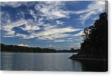 Canvas Print featuring the photograph Serene Skies by Gary Kaylor