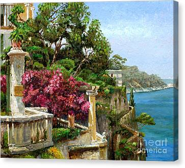 Serene Sorrento Canvas Print by Trevor Neal