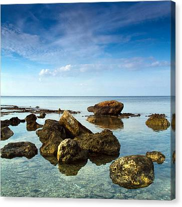 Weathered Canvas Print - Serene by Stelios Kleanthous