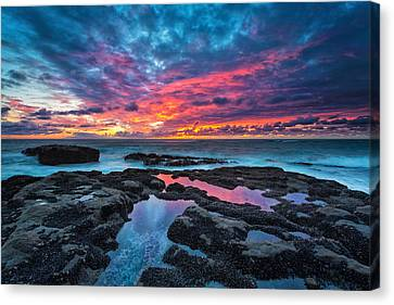 Pacific Coast States Canvas Print - Serene Sunset by Robert Bynum