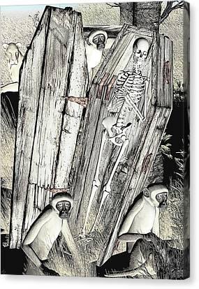 Canvas Print featuring the digital art Serengeti Scavengers by Maynard Ellis