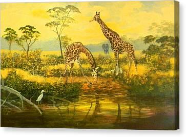 Serengetti Sunrise Canvas Print