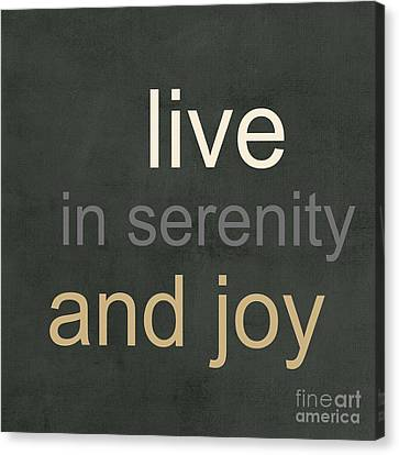 Serenity And Joy Canvas Print by Linda Woods