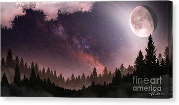 Canvas Print featuring the digital art Serenity by Anthony Citro