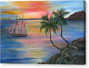 Serenity Bay Canvas Print by Mikki Alhart