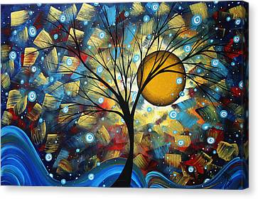 Bold Colors Canvas Print - Serenity Falls By Madart by Megan Duncanson
