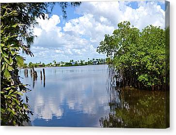 Canvas Print featuring the photograph Serenity In Matlacha Florida by Timothy Lowry