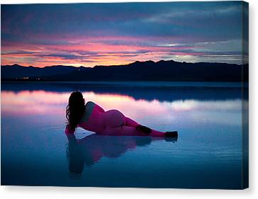 Canvas Print featuring the photograph Serenity Lake by Dario Infini