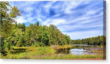 Canvas Print featuring the photograph Serenity On Bald Mountain Pond by David Patterson