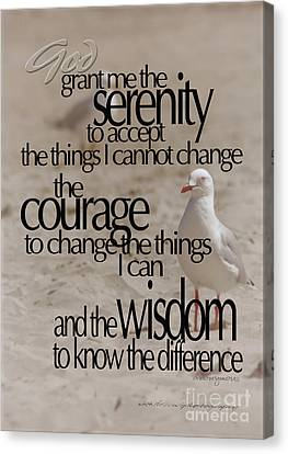Serenity Prayer 01 Canvas Print