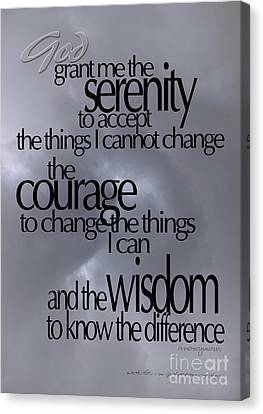 Serenity Prayer 05 Canvas Print