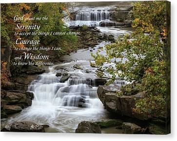 Canvas Print featuring the photograph Serenity Prayer by Dale Kincaid