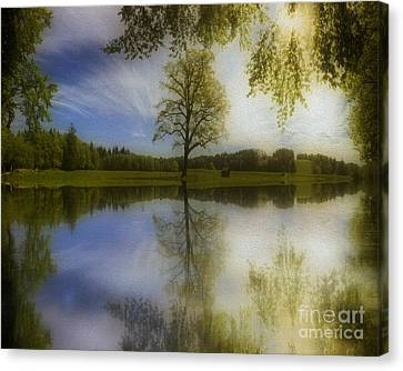 Serenity Reflected Canvas Print by Edmund Nagele