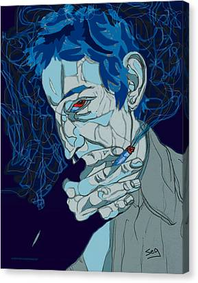 Serge Gainsbourg Canvas Print by Suzanne Gee