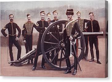 Sergeants Of The Royal Horse Artillery Canvas Print by Vintage Design Pics