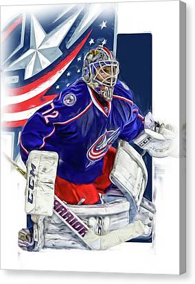 Sergei Bobrovsky Columbus Blue Jackets Canvas Print by Joe Hamilton