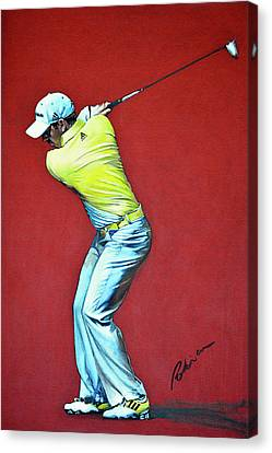 Sergio Garcia By Mark Robinson Canvas Print by Mark Robinson