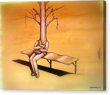 Series Trees Drought 4 Canvas Print by Paulo Zerbato