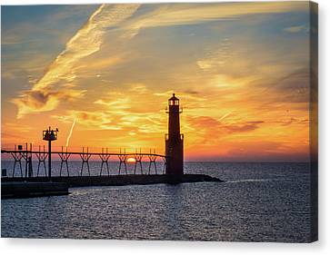 Canvas Print featuring the photograph Serious Sunrise by Bill Pevlor