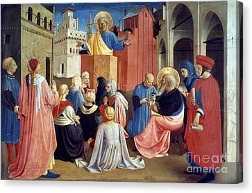 Sermon Of St Peter Canvas Print by Granger
